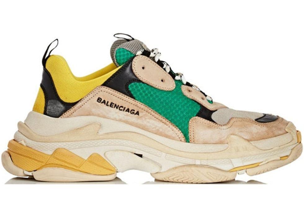 Balenciaga-Triple-S-Beige-Green-Yellow